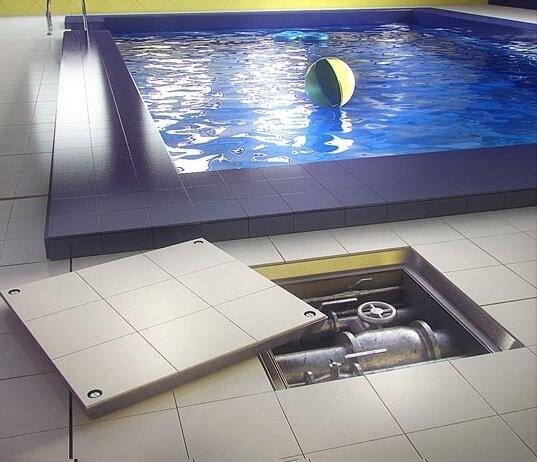 Съемный напольный люк под плитку
