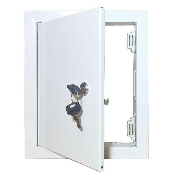 Люк-дверца ревизионная металлическая с замком - ЛМЗ